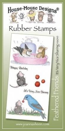 House Mouse Design Feathered Friends Unmounted Rubber Stamp Set Summer - It's Very Nice Sharing