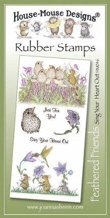House Mouse Design Feathered Friends Unmounted Rubber Stamp Set Summer - Sing Your Heart Out
