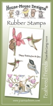 House Mouse Design Feathered Friends Unmounted Rubber Stamp Set Summer - From the Gang