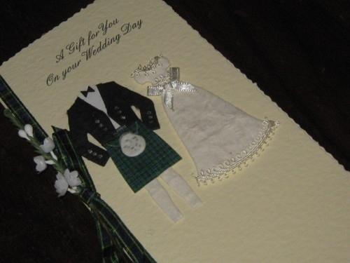 Scottish Wedding Gifts: Personalised Handmade Scottish Wedding Gift Card Money