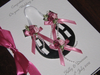 Personalised Handmade Wedding Card - Horseshoe Boxed Pink WED3