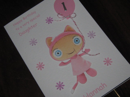 Handmade Waybuloo Birthday Card