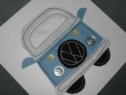 Handmade Birthday Card - Patchwork VW Camper Van