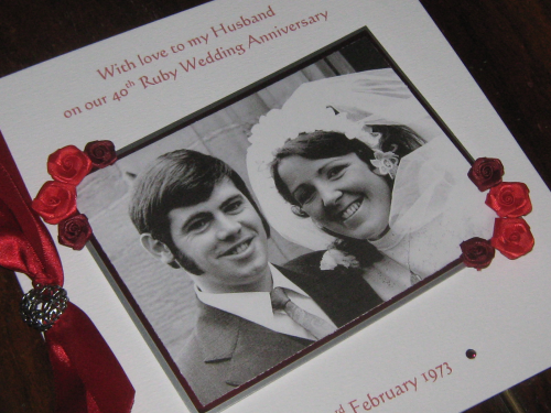 Personalised handmade anniversary cards windrush cards crafts personalised handmade anniversary photo card thecheapjerseys Choice Image