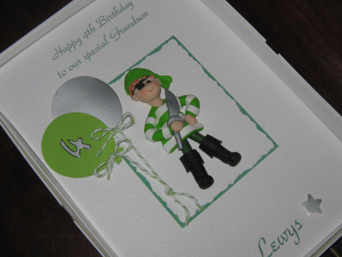 Personalised Handmade Birthday Card - Pirate Luxury Boxed
