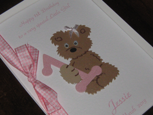 Personalised Handmade Little Girls 1st 2nd 3rd 4th 5th Birthday Greeting Card Luxury