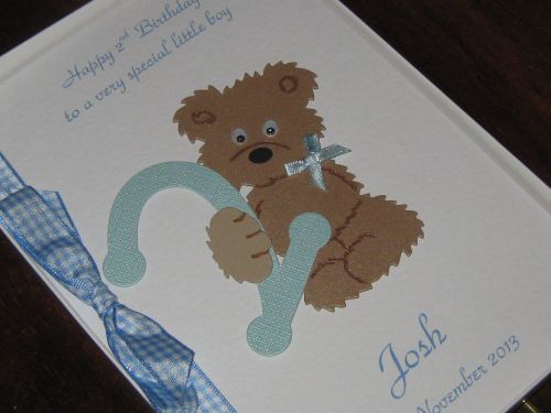 Personalised Handmade Little Boys 1st 2nd 3rd 4th 5th Birthday Greeting Card Luxury
