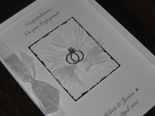 Personalised Handmade Engagement Card - Engagement Ring Luxury Boxed ENG1