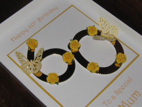 Personalised Handmade Female Birthday Card 30th, 40th, 50th, 60th, 70th, 80th, 90th,100th Luxury Boxed