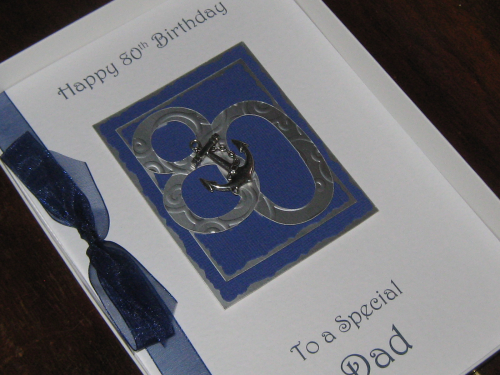 Personalised Handmade Male Birthday Card 30th, 40th, 50th, 60th, 70th, 80th, 90th,100th Luxury Boxed