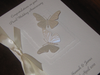 Luxury Personalised Handmade Wedding Anniversary Card -  Romantic Butterflies