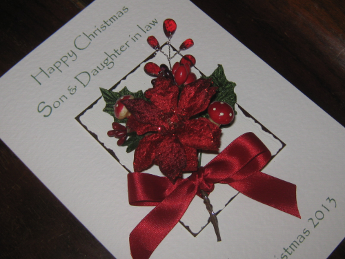 "Handmade Christmas Card - ""Warm & Cosy"" Luxury Boxed"