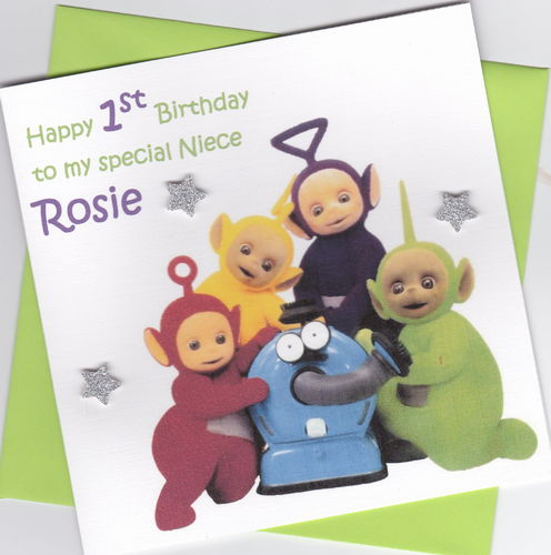 Teletubbies Birthday Card