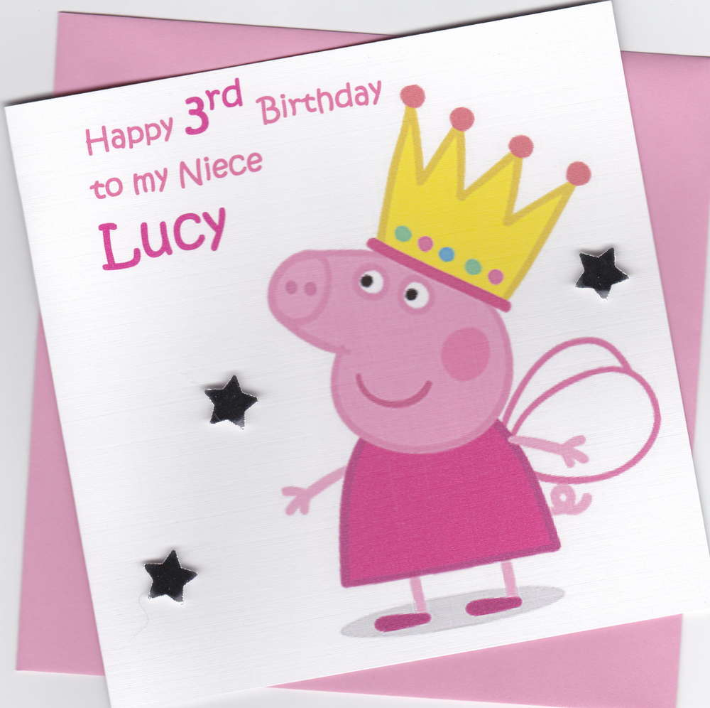 Peppa pig birthday card windrush cards crafts peppa pig birthday card kristyandbryce Gallery