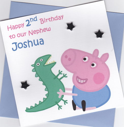 Peppa Pig George Birthday Card