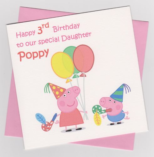 Peppa Pig Birthday Card 2