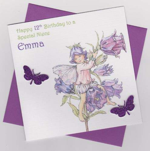 Flower Fairy Birthday Card 1