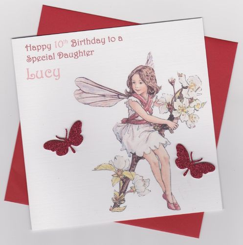 Flower Fairy Birthday Card 3