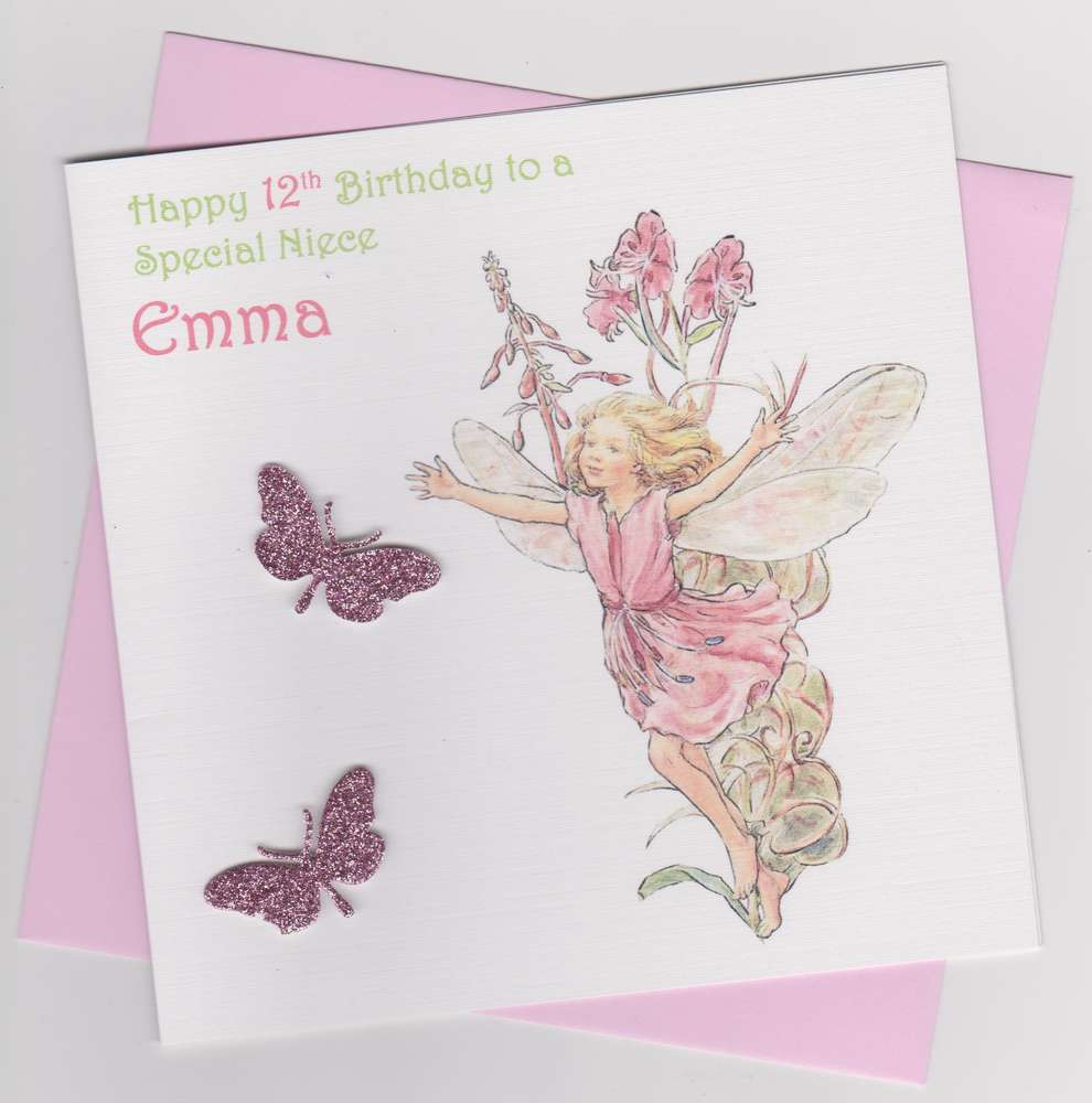 Flower fairy birthday card 12 windrush cards crafts flower fairy birthday card 12 bookmarktalkfo Image collections